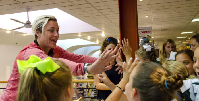 Abby Wambach visits the Book Revue