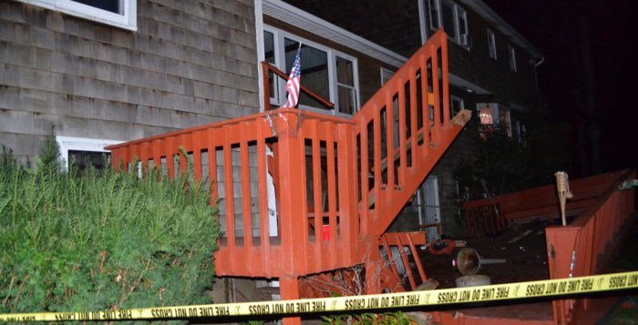 Two injured as elevated deck collapses in Setauket