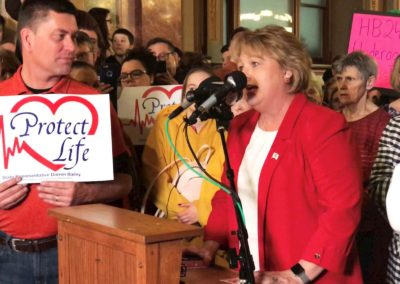 Big crowd fills Capitol to protest abortion bills
