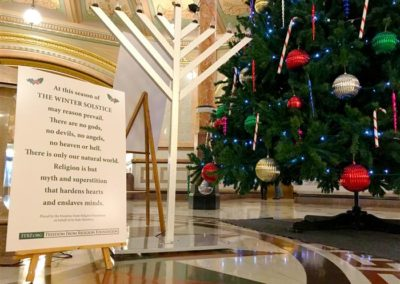 Chanukah menorah added to Capitol rotunda's holiday display