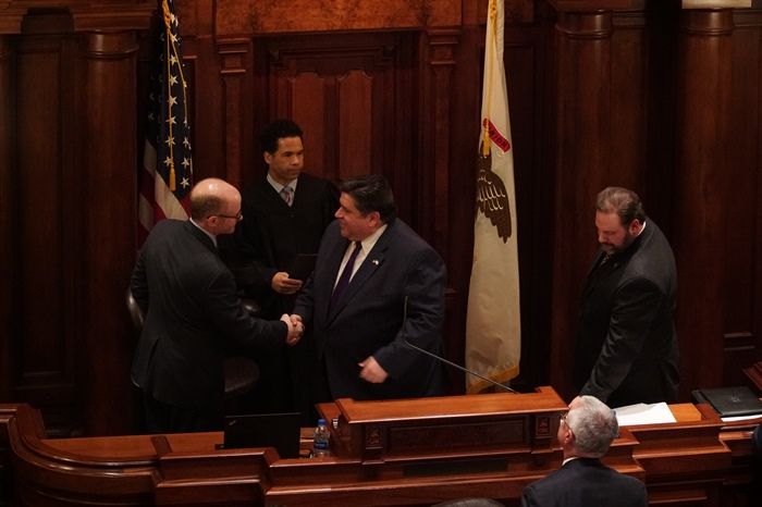 Pritzker presides in Senate presidential proceedings